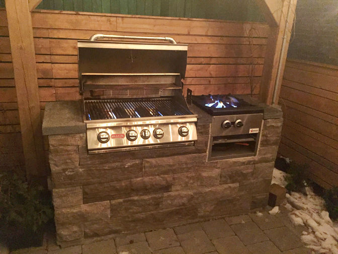 Custom BBQ, a stone masonry or masonry project by O'Connor Stone & Landscape, a London Ontario based landscape & hardscape contactor.